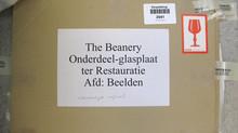 """""""The Beanery"""" - conservering en restauratie glas plaat, Stedelijk Museum Amsterdam"""