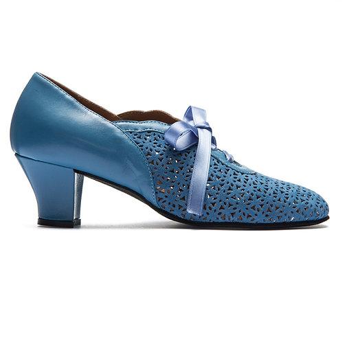 Rumpf Swing-Schuhe, Leder/Wildleder, Abs. 5,0 cm, blau
