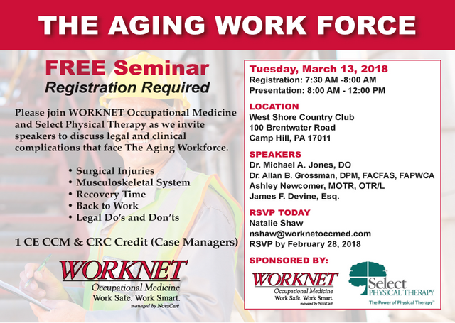 Worknet Offers a Free Aging Work Force Seminar