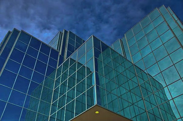 Glass Office and Clouds