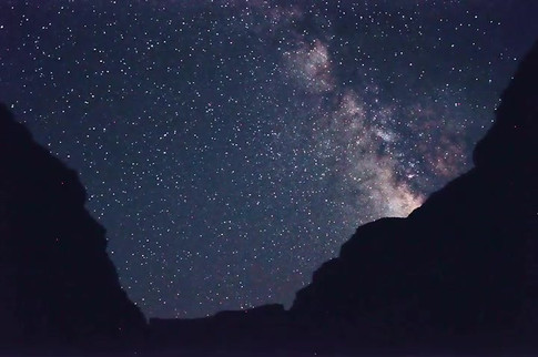 Milky Way Canyon Time Lapse