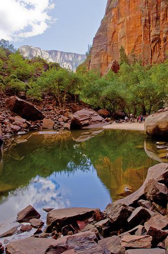 Emerald Pools Vertical