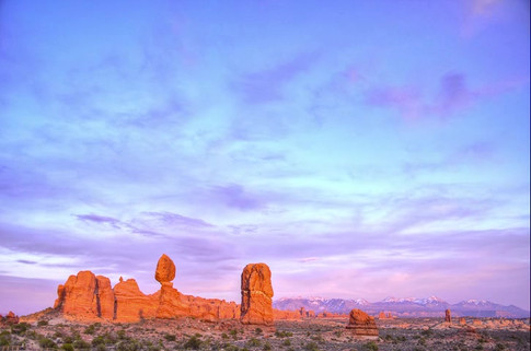 Balanced Rock, Arches at Sunset