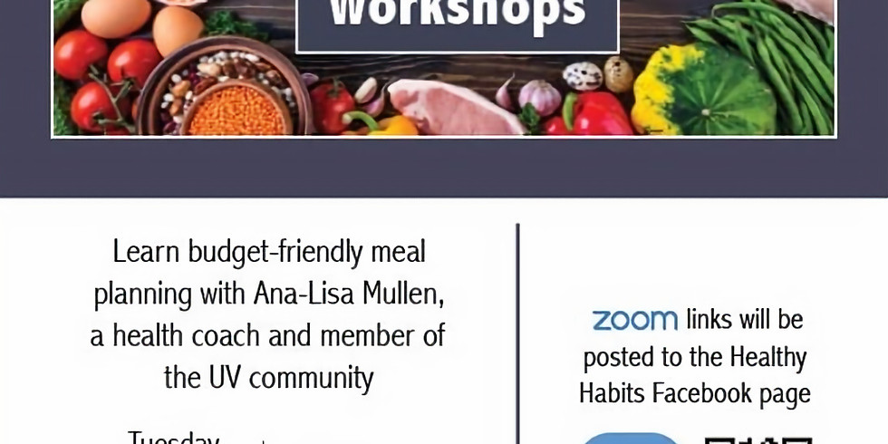 Health Habits Workshop - Menu Planning