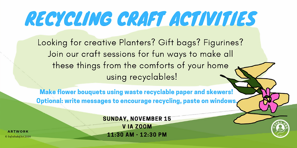 Zoom Recycling-Craft activities- Bouquets