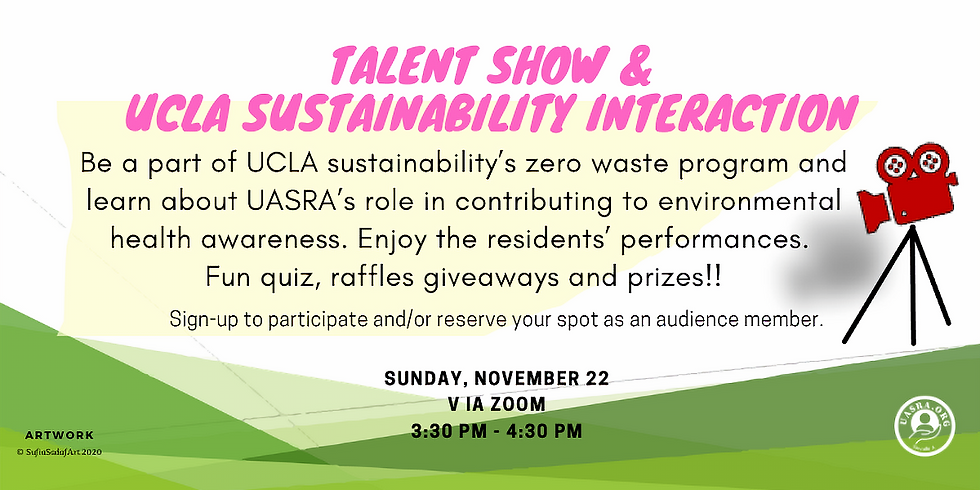 Green principles and Talent show event