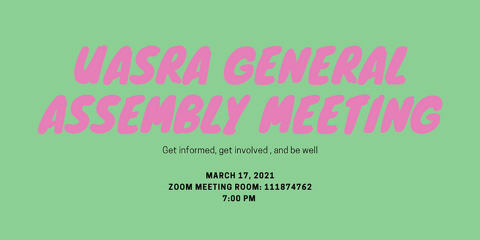 March-UASRA General Assembly Meeting