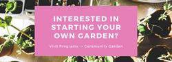 Interested in Gardening Banner