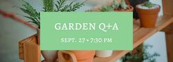 Garden Q+A Event Banner