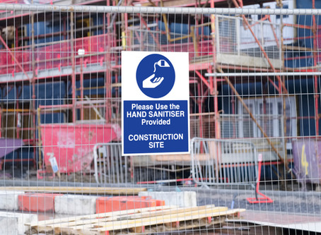Construction and other outdoor workers - sanitising the workplace