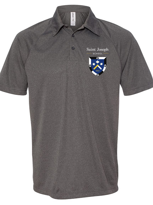 Grey Embroidered Polo (Adult)