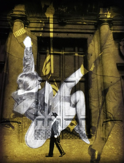 Resist government vapor - The socialist spinster light off - light on 27.1x20.3cm