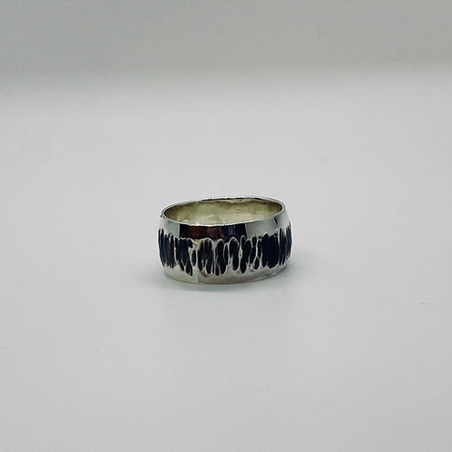 Domed Sterling Silver Band