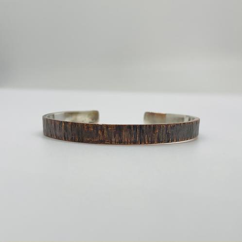 Copper and Sterling Cuff Bracelet