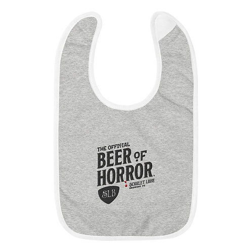 Official Beer of Horror Baby Bib