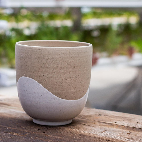 KOA & acre small 13cm x 11cm - white marbel planter pot