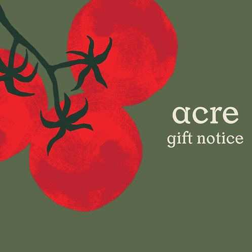 acre gift notice - via email