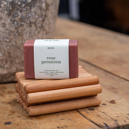 acre Rose Geranium with Australian Pink Clay
