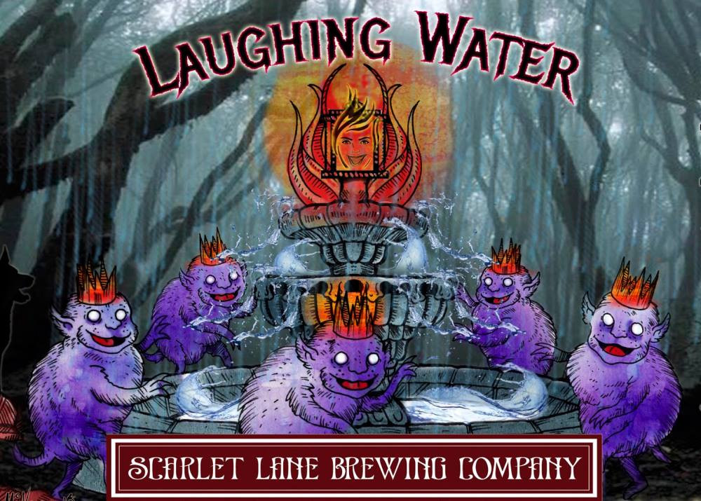 Laughing Water bottle label