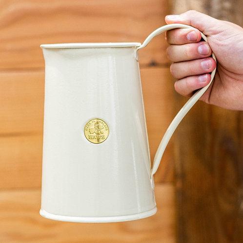 Haws 1.8L Vintage-look metal watering can - cream