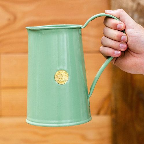 Haws 1.8L Vintage-look metal watering can - pale green