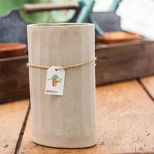Kim Wallace Ceramics large vase - oatmeal