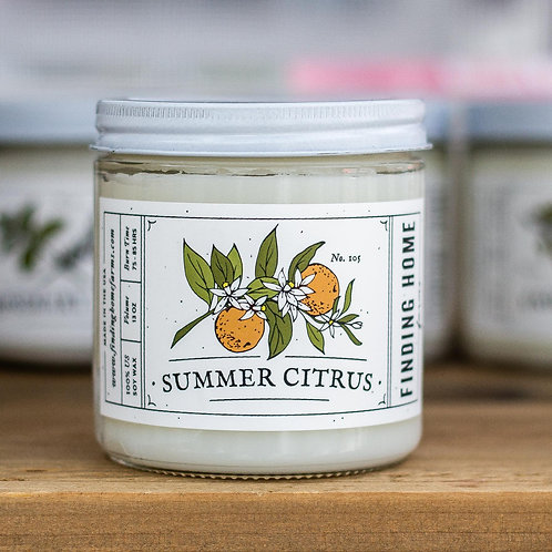 Finding Home Farms Summer Citrus candle large Jar