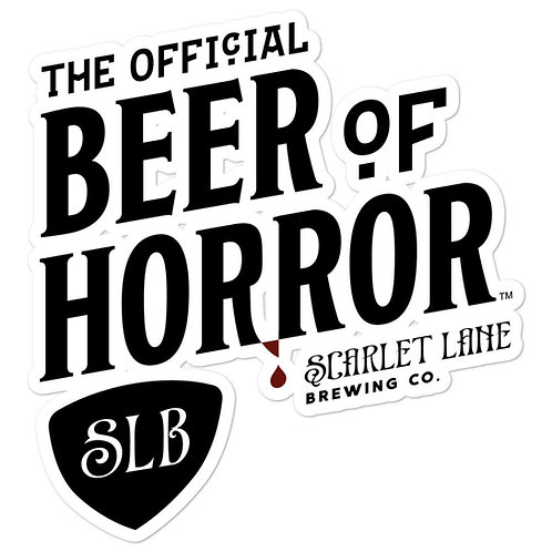 Official Beer of Horror Sticker