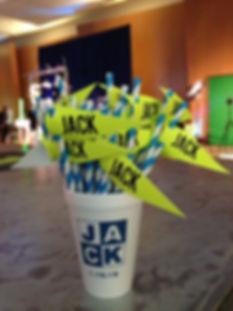 Paper Flag Mitzvah Straws