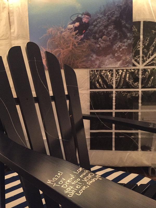 Adirondak Chair SIgn in Board