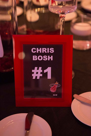 Basketball Table Number