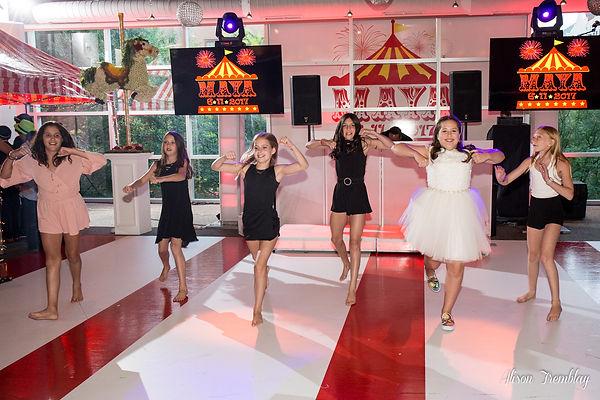 Circus Mitzvah Dance Floor