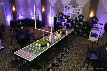 Football Field Table Event Decor