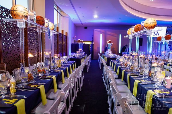 Basketball Bar Mitzvah | Event Planning DC | Bar Mitzvah Planning | Basketball Centerpiece