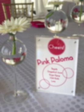 Specialty Drink Sign. Gerbera Daisy.