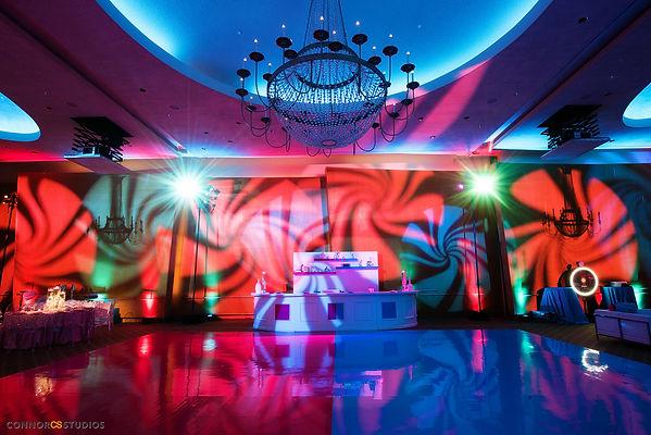 Painted dance floor, DJ booth, mitzvah decor, B'nai mitzvah decor, Custom Bar