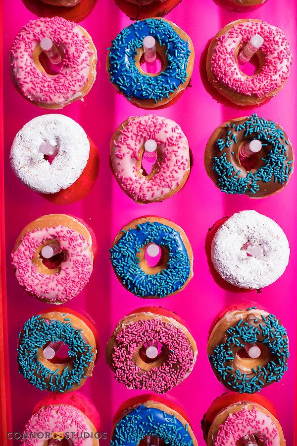 candy bar, dessert bar, candy display, mitzvah candy bar, spinning donut display