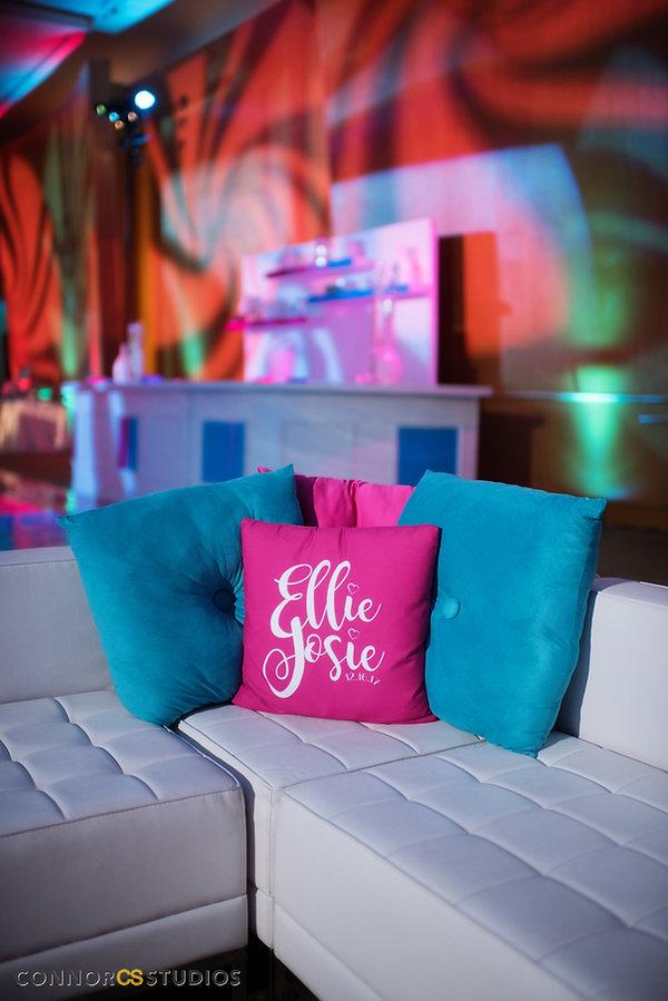 event design, custo logo, custom pillows, event planning