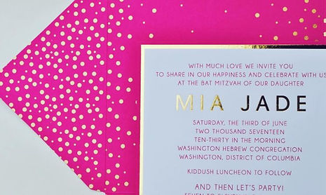 Polka Dot Mitzvah Invitation