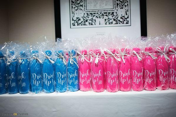 mitzah favor, water bottle favors, drink up water bottle