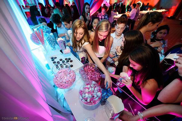candy bar, dessert bar, candy display, mitzvah candy bar