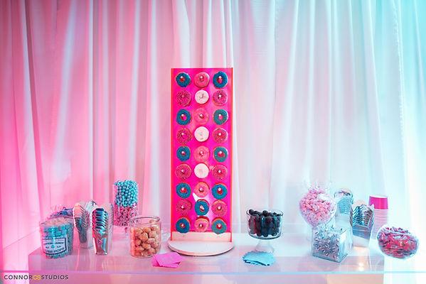 candy bar, dessert bar, candy display, mitzvah candy bar, donut display