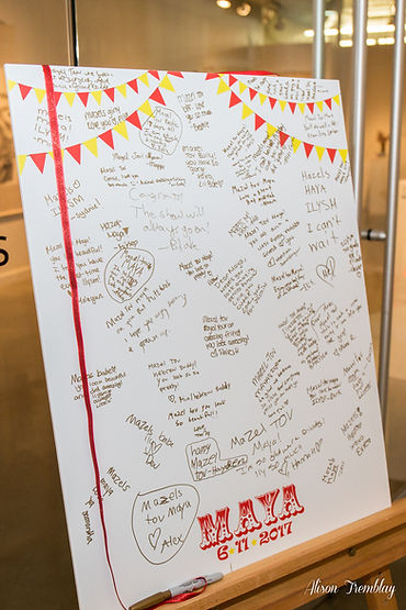Circus Mitzvah Sign in Board