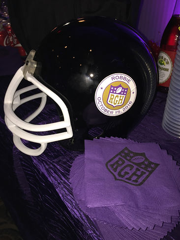 Football Helmet Event Decor