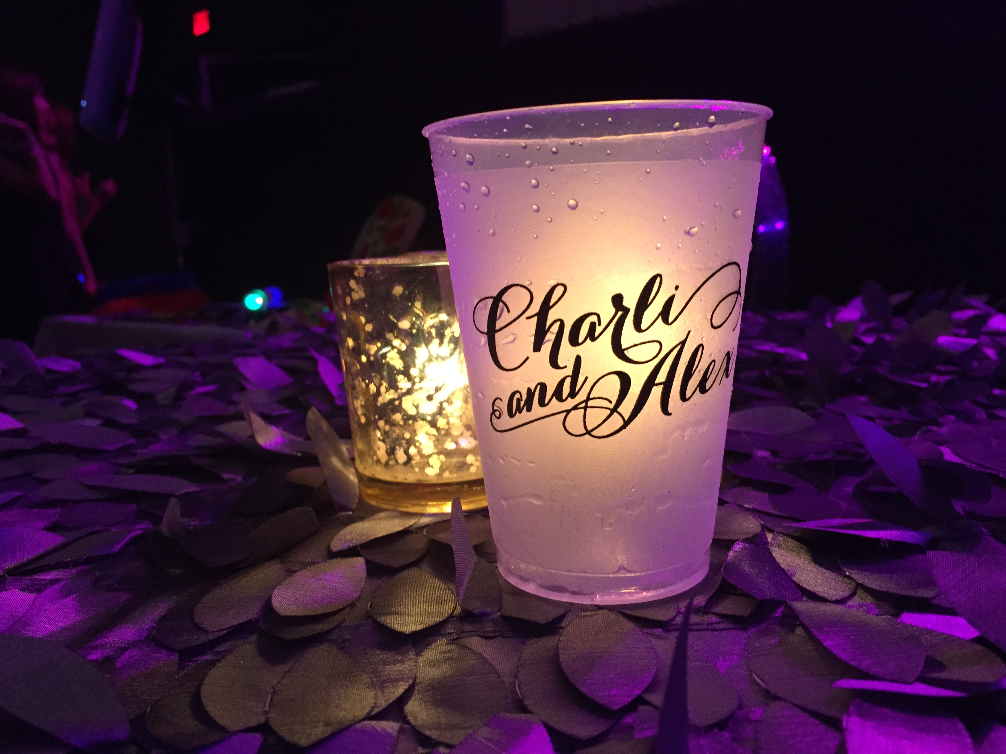 Custom frosted cups