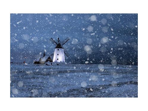 Snowy lytham windmill A3