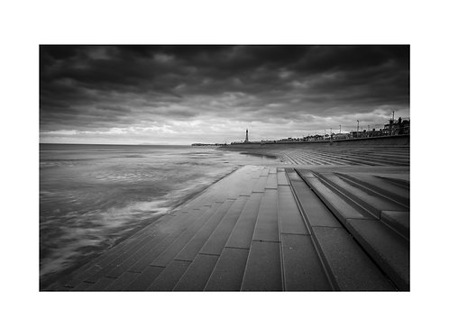 Blackpool tower views b/w