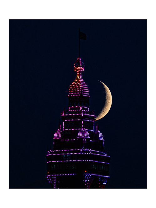 purple tower moon shot
