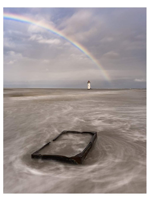 Talacre Lighthouse rainbows a3