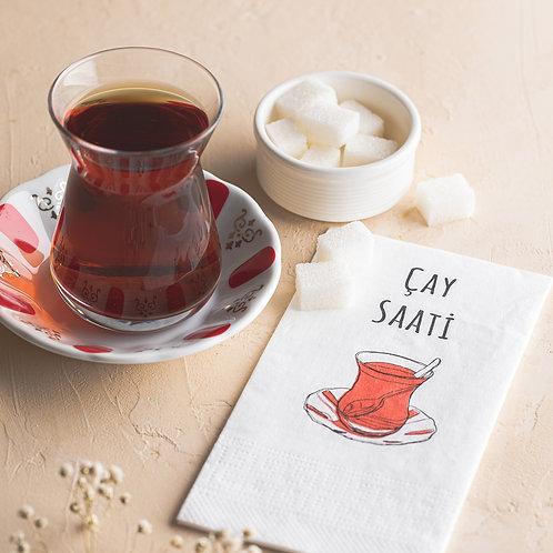 Çay Saati Baskılı Peçete 24'lü Paket
